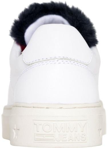 Tommy Hilfiger Kadın Funny Fur Star Sneaker Sneakers EN0EN00377 Beyaz